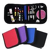 1Set New DIY 12 Needle Tape Stooage Scissor Thimble set Multifunction Threads Sewing Kits Portable Useful Travel Home Tools( Colour: Random)