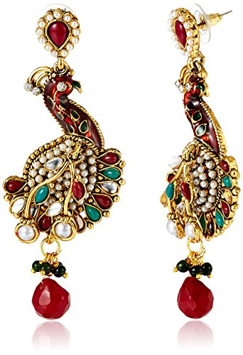 Sia Sia Art Jewellery Gold Plated Drop Earrings For Women (Golden) (AZ1967) (Yellow)