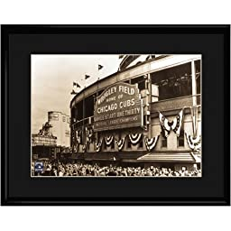 Chicago Cubs MLB Vintage Wrigley Field Stadium Lithograph