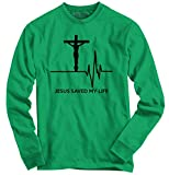 Jesus Saved My Life Religious Graphic Design Long Sleeve T-Shirt