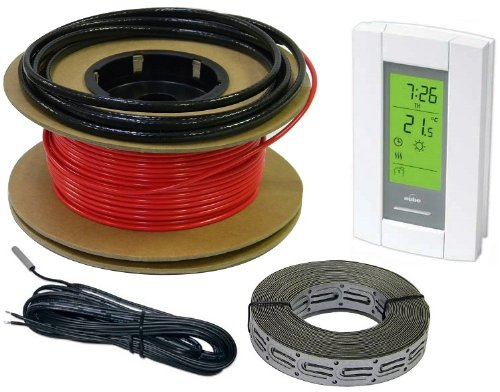 Heattech 40-80 Sqft Electric Radiant In-Floor Heating Cable System, 240V