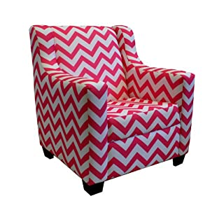 Newco Kids Baby Retro Chevron Chair, Candy Pink