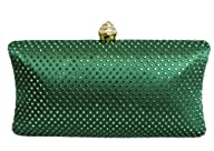 Chicastic Green Rhinestone Crystal Ha…