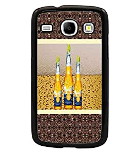 PrintDhaba Bottles D-3812 Back Case Cover for SAMSUNG GALAXY CORE i8262 (Multi-Coloured)