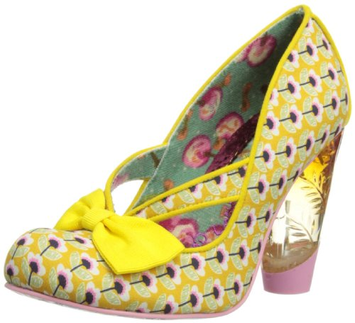 Irregular Choice Womens Hello Ha Court Shoes 3801-40 Yellow 4 UK, 37 EU