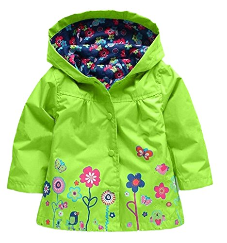 new-fashion-toddler-baby-girls-flowers-wind-rain-hooded-jacket-coat-green-5-6years-130-green