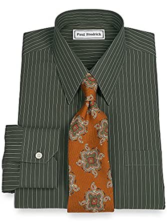 Paul fredrick men 39 s non iron straight collar dress shirt Straight collar dress shirt