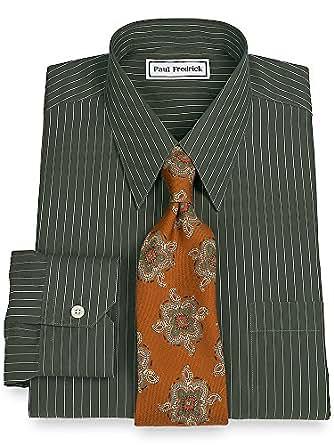 Paul Fredrick Men 39 S Non Iron Straight Collar Dress Shirt: straight collar dress shirt