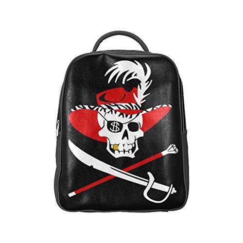 COLORSFORU(TM) Pirate Skull Head PU Backpack Sea Rover Satchel School Book Bag (Patriots Coleman Cooler compare prices)