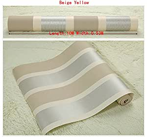 Self adhesive fashion luxury high quality plain stripe non for Pre adhesive wallpaper