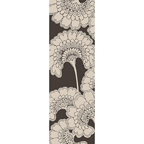 2.5' x 8' Spring Blooming Pewter and White Hand Tufted Area Throw Rug Runner diva платье diva 3040 white