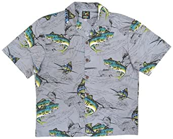 Dorado and marlin fishing hawaiian shirt tom kelly by for Button down fishing shirts