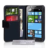 Yousave Accessories PU Leather Wallet Cover Case for Samsung Ativ S - Black