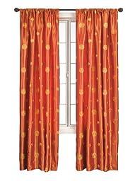 Diplomat Decor Kitwe Rod Pocket Panel, 84-Inch, Orange