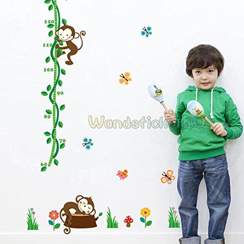 sticker4u-mural-toise-singe-papillons-oiseau-blumen-sticker-mural-pour-chambre-enfants-amovible-deco