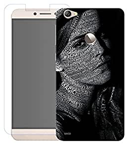 Combo of Emma Watson HD UV Printed Mobile Back Cover and Tempered Glass For Letv Le 1S