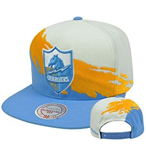 NFL Mitchell & Ness NG83Z Paintbrush Wool Snapback Hat Cap San Diego Chargers by Mitchell & Ness