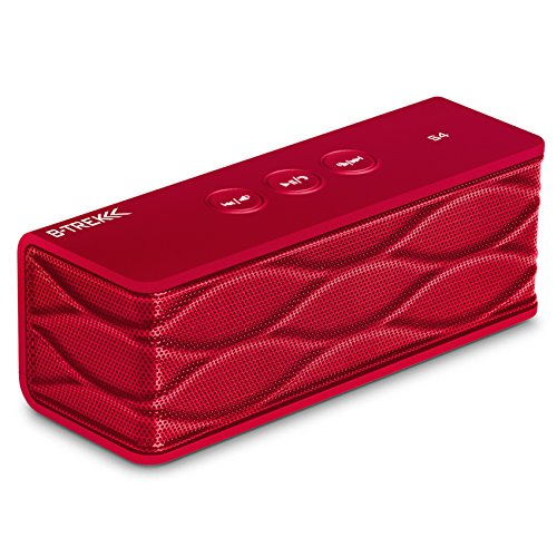 Sentey® Bluetooth Stereo Speaker B-Trek S4 (Red) up 6 Hours – Built-in Mic for Hands free- 10 Meter – 33 Foot Range – Rechargeable Lithium Ion Battery – Wireless – AUX Line in Allows Music Playback From Various Sources / Works for iPhone, iPad Mini, iPad 4/3/2, iTouch, Blackberry, Nexus, Samsung and Other Smart Phones and Mp3 Players – – Compatible with Any Bluetooth Device Such As MacBook, MacBook Pro, PCs , Notebook , Desktop, Portables Pcs, Smartphones, Smartwatch , iPhone 6, Samsung Galaxy, Tablet Pc , Tablets , Sunglass , Bluetooth Headset , Works with Many 3.5mm Connector Plug Such As Gaming Headset , Music Headphones, Bluetooth Headphone, Bluetooth Headset, Recharge Very Fast with Any USB Car Chargers, Power Bank, Wall Charger USB Chargers – Can Be Used As Bluetooth Receiver with AUX Line Out- Two Active Speakers – Amazing Sound – New iPhone 6 and iPhone 6 Plus Compatible – Best Super Portable Top Rated Wireless Speaker – Indoor – Outdoor – For Car or Mobile Speaker System