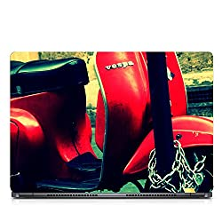 Inktree Vinyl Vespa Matte Finish Adhesive Laptop Skin (15 inch x 10 inch, Mulicolor)