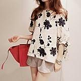 (フルールドリス)Fluer de lis フラワースモックブラウス 花柄 リボン シャツ ワイシャツ Yシャツ ドレスシャツ カジュアル アパレル レディース ファッション 服 194-5007