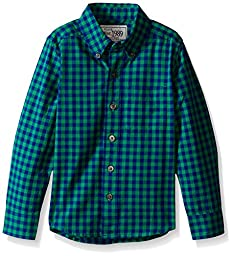 The Children\'s Place Big Boys\' Dressy Checkered Long Sleeve Shirt, Ireland, Medium/7-8