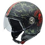 Casco de Moto militar camuflaje