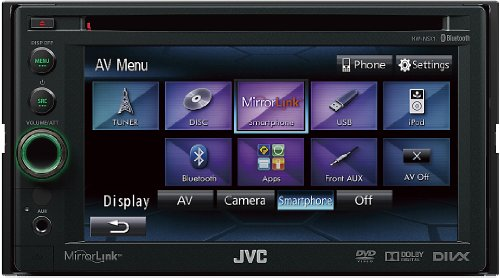 JVC-KW-NSX1-DVDCDUSB-Multimediacenter-155-cm-6-Zoll-Touchscreen-Bluetooth-Mirror-Link-schwarz