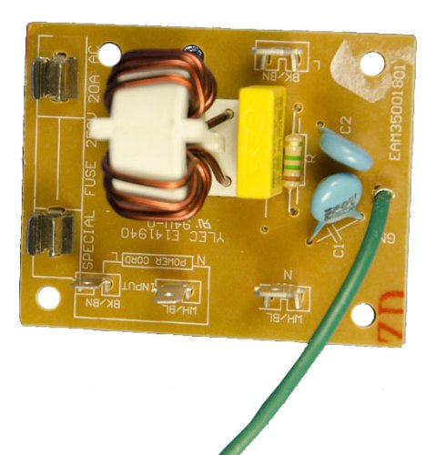 Lg Electronics Eam35001801 Microwave Oven Noise Filter Assembly Board With Grounding Wire