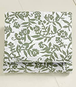 280-Thread-Count Pima Cotton Percale Sheet, Flat Floral