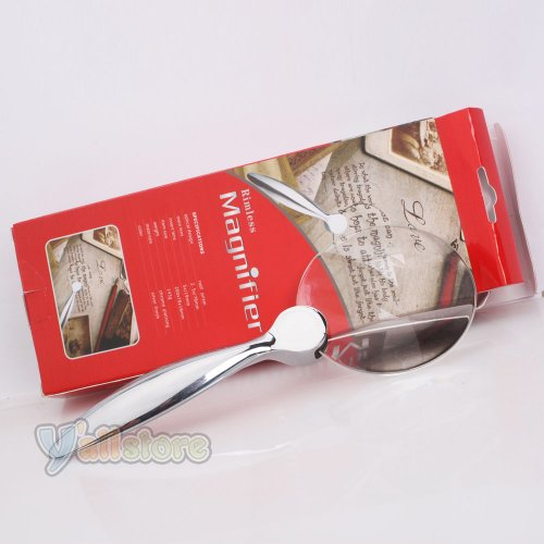2.5X 78Mm 5X 19Mm Hand Held Magnifier Loupe Magnifying Glass Low Vision Aid