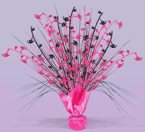 Black and Pink Graduation Centerpiece