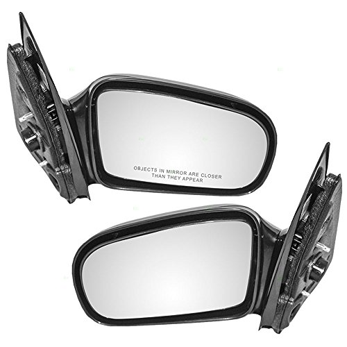 Driver and Passenger Manual Remote Side View Mirrors Replacement for Chevrolet Pontiac 10362467 22728849 (2003 Cavalier Driver Side Mirror compare prices)