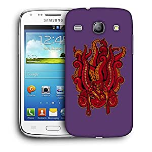 Snoogg Face With Octapus Designer Protective Back Case Cover For Samsung Galaxy Core