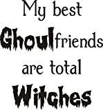 Ghoul Friends Witch Greeting Rubber Stamp By DRS Designs