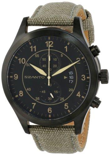 Szanto Men'S Sz 1203 1200 Series Vintage Inspired Military Pilot Watch front-622198