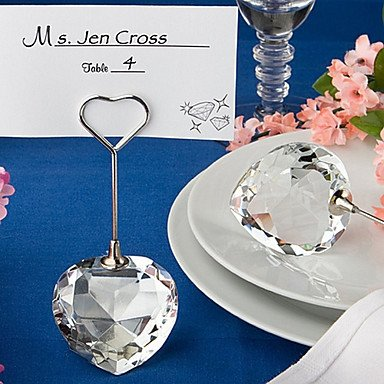 Zcl Choice Crystal Collection Heart Design Place Card Holders