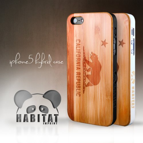 Special Sale iPhone 5 Hybrid Bamboo Wood Case