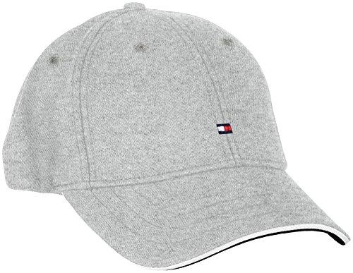 Tommy Hilfiger PIQUE CAP-Berretto da baseball Uomo    Grigio (Cloud Htr 501) Taglia unica