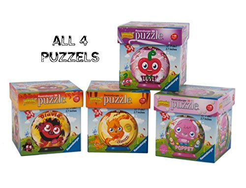 Moshi Monsters 3D Puzzle Ball: Luvli, Poppet, Katsuma, and Diavlo (Set of 4)