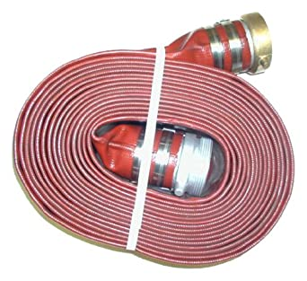 Eagleflo Eagle PVC Discharge Hose Assembly, Red, Male X Female (CXE) Camlocks