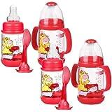 Nuby Infant Printed Bottle Feeder 4-Pack - Red