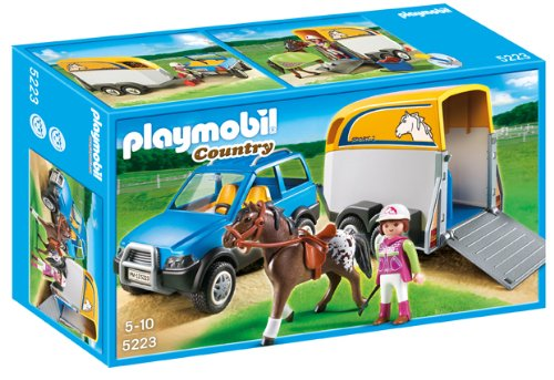 Playmobil Suv With Horse Trailer front-1057696