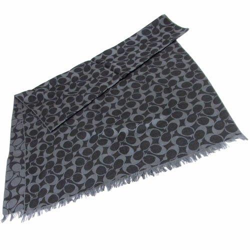 [コーチ] COACH アパレル(スカーフ) F83650 ブラック シグネチャー ラップ ストール レディース [アウトレット品] [ブランド] [並行輸入品]