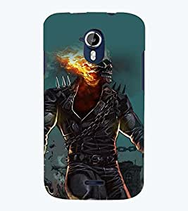 Printvisa Burning Skeleton Haunted Pic Back Case Cover for Micromax Canvas Magnus A117