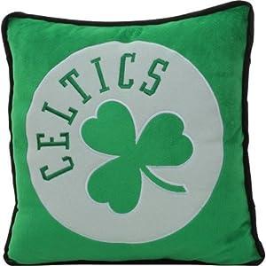 Boston Celtics NBA Basketball 2013 Big Logo Fleece Throw Pillow by Forever Collectibles