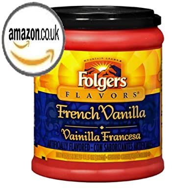 FOLGERS FLAVORS FRENCH VANILLA GROUND COFFEE 1 x 326g TUB AMERICAN IMPORT by FOLGERS