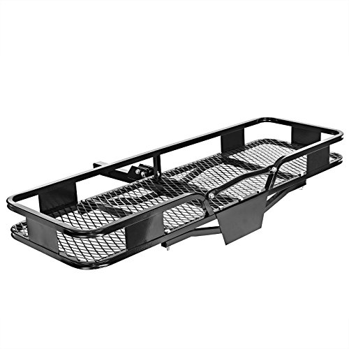 Direct Aftermarket Folding Hitch Rack Cargo Carrier 60 inch Hauler 2 inch Receiver (Cargo Luggage Rack Hitch Mounted compare prices)
