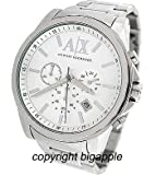 Armani Exchange Men's AX2058 Silver Stainless-Steel Quartz Watch with Silver Dial