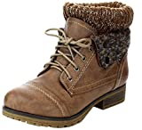 REFRESH WYNNE-01 Women's combat style lace up ankle bootie,Wynne-01 Taupe 8