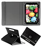 Acm Rotating 360° Leather Flip Case For Sansui St71 Tablet Stand Cover Holder Black